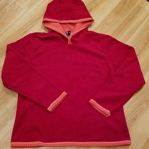 Lands End fleece hoodie